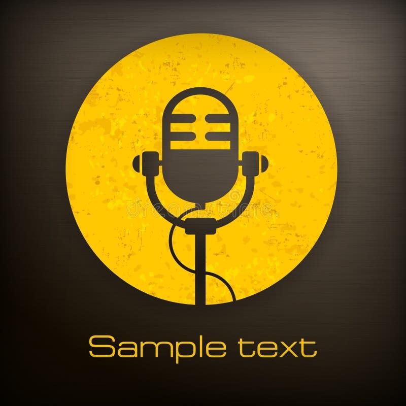 Ícones do microfone ilustração royalty free
