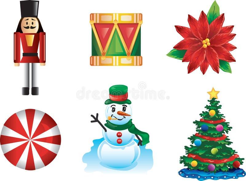 Ícones do Natal ilustração do vetor