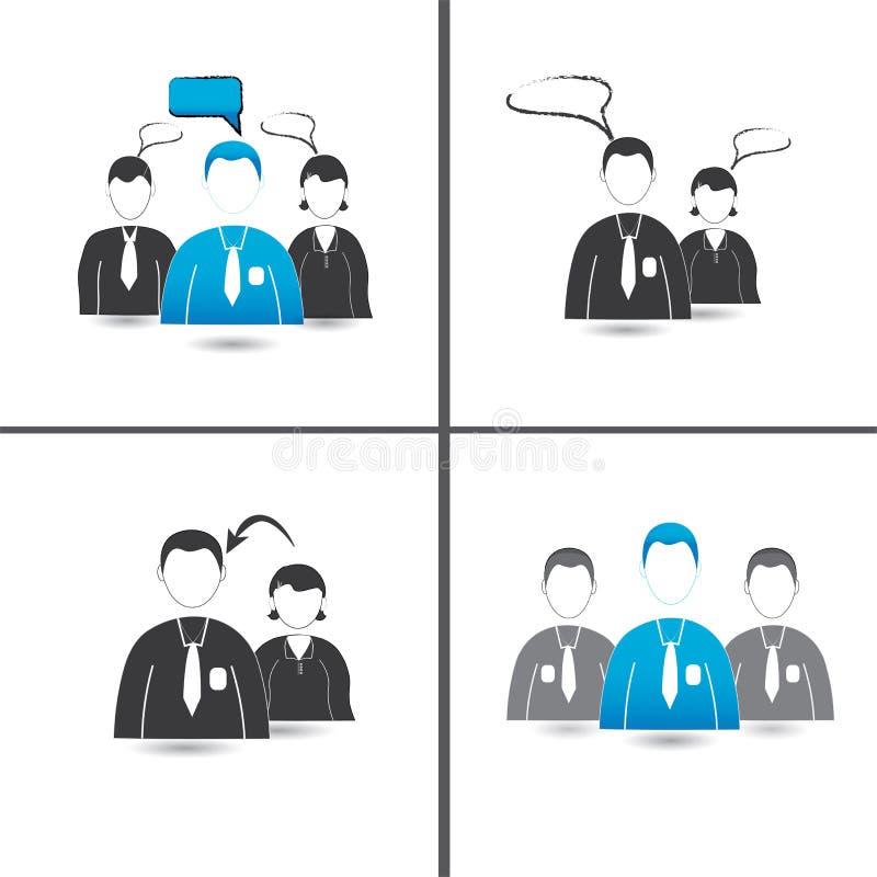 Ícones do negócio ilustração do vetor