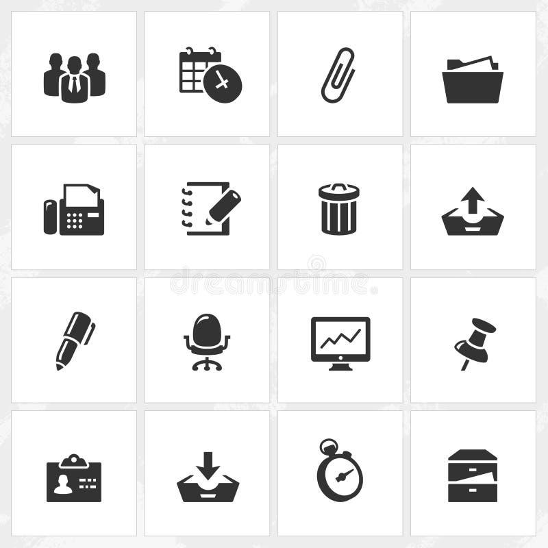 Ícones do negócio e do escritório ilustração do vetor