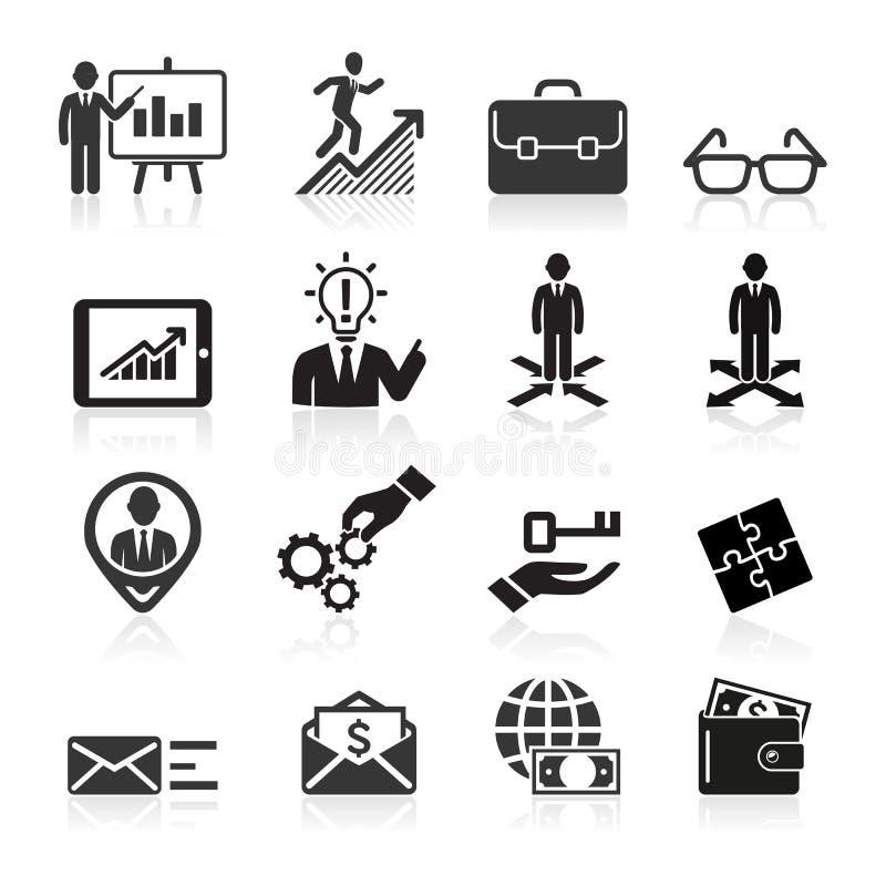 Ícones do negócio, gestão e recursos humanos. ilustração royalty free