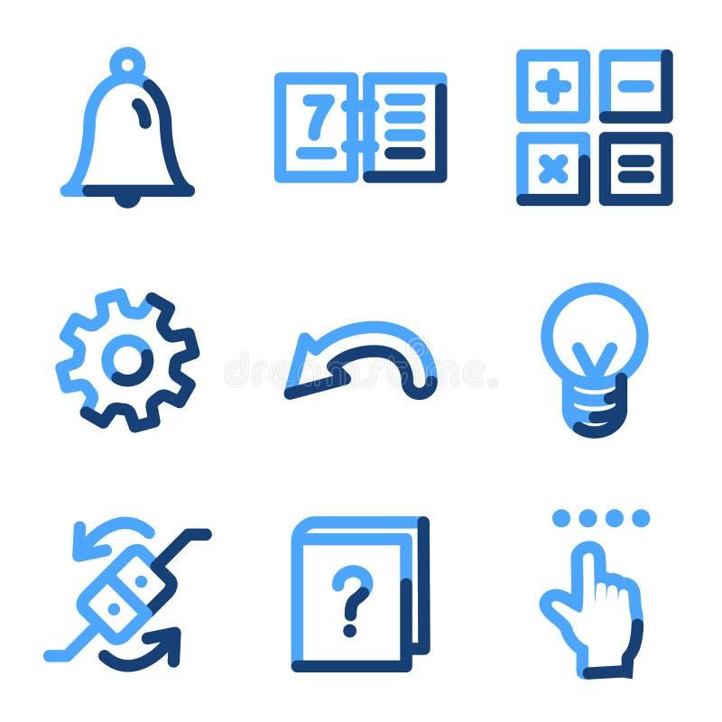 Ícones do organizador ilustração stock
