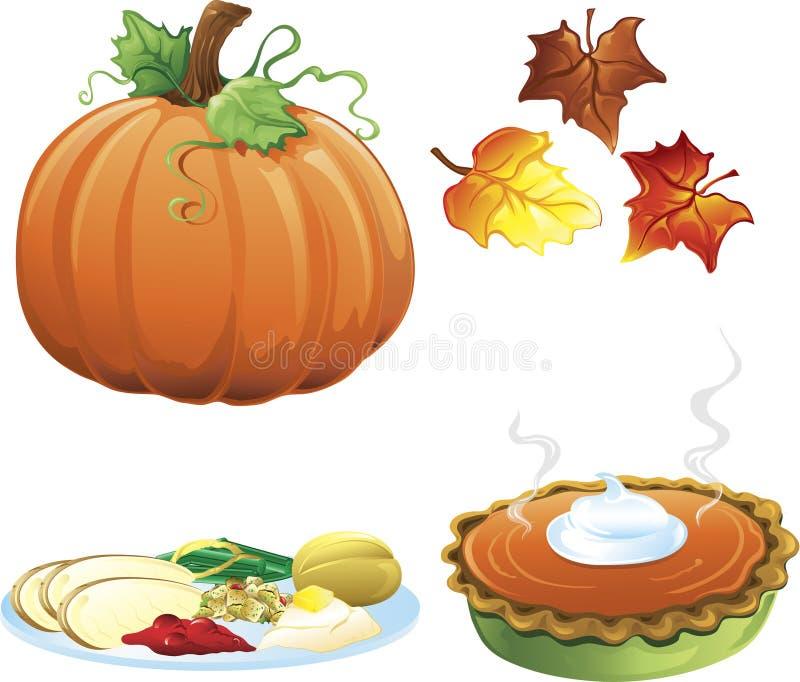 Ícones do outono e da queda