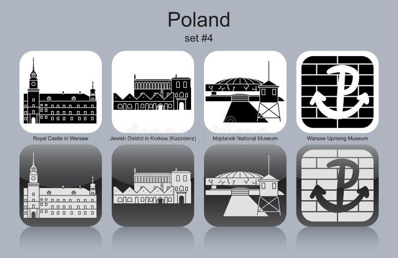 Ícones do Polônia ilustração stock
