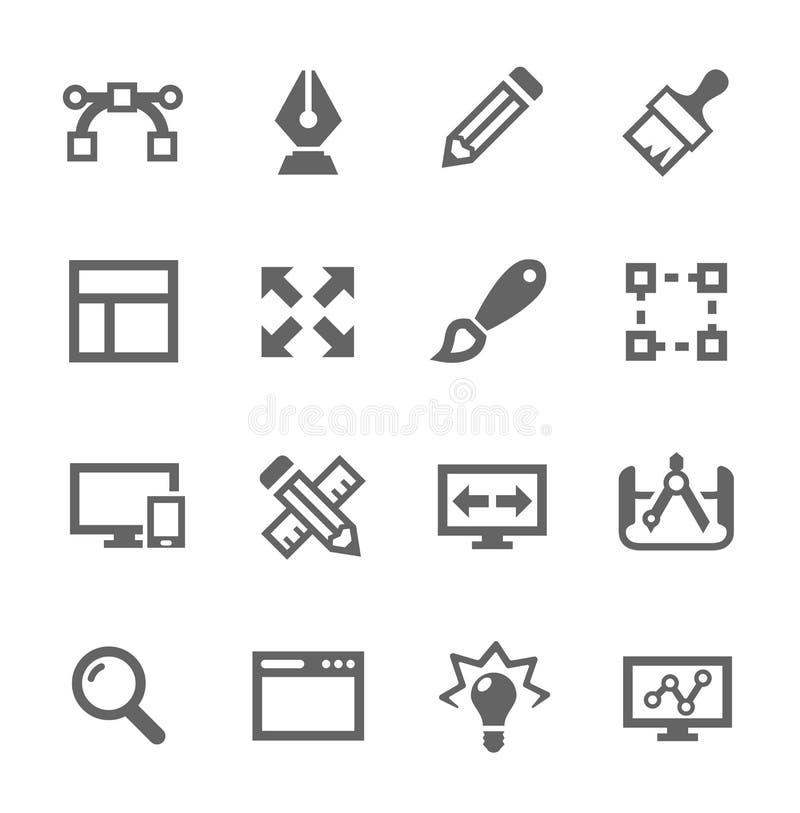 Ícones do projeto ilustração do vetor
