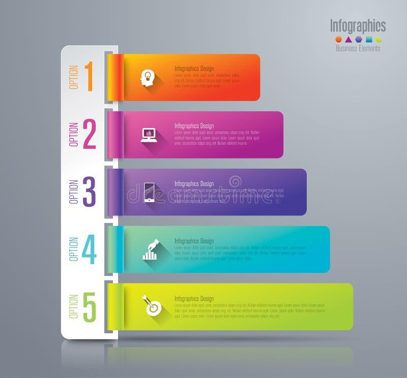 Ícones do projeto e do mercado de Infographic ilustração royalty free