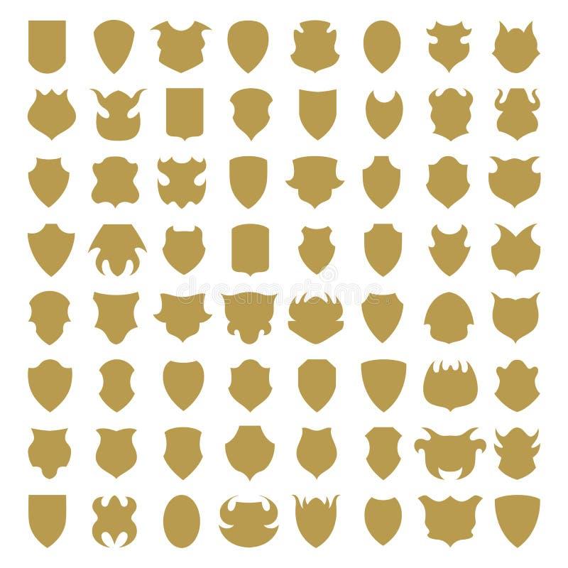 Ícones do protetor ilustração royalty free