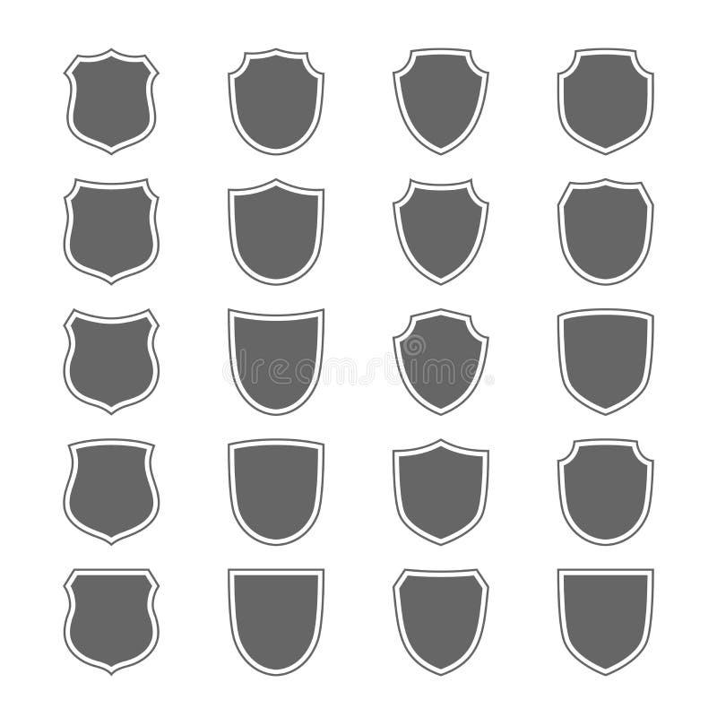 Ícones do protetor ajustados ilustração stock