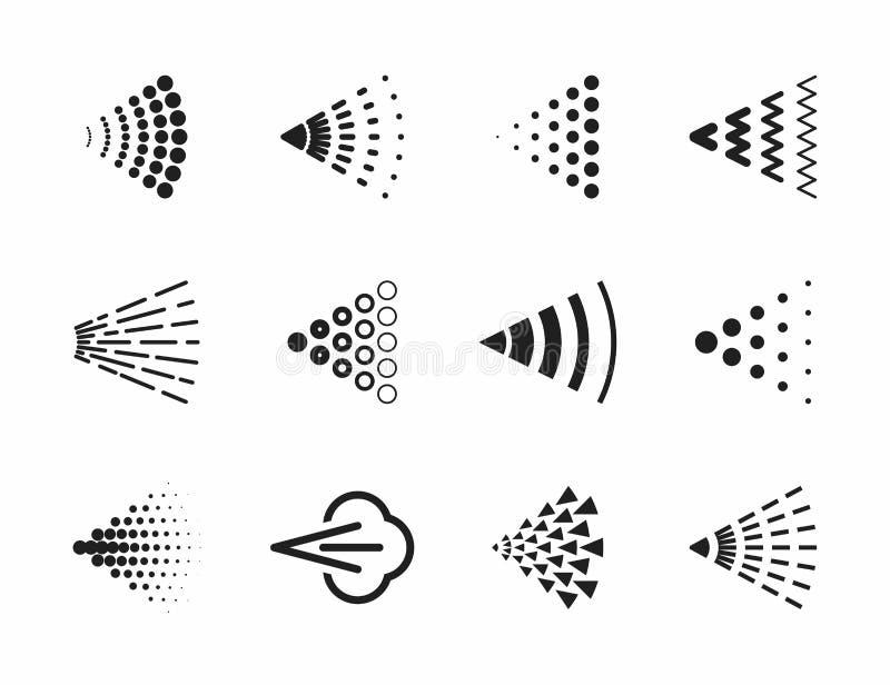 Ícones do pulverizador ilustração do vetor