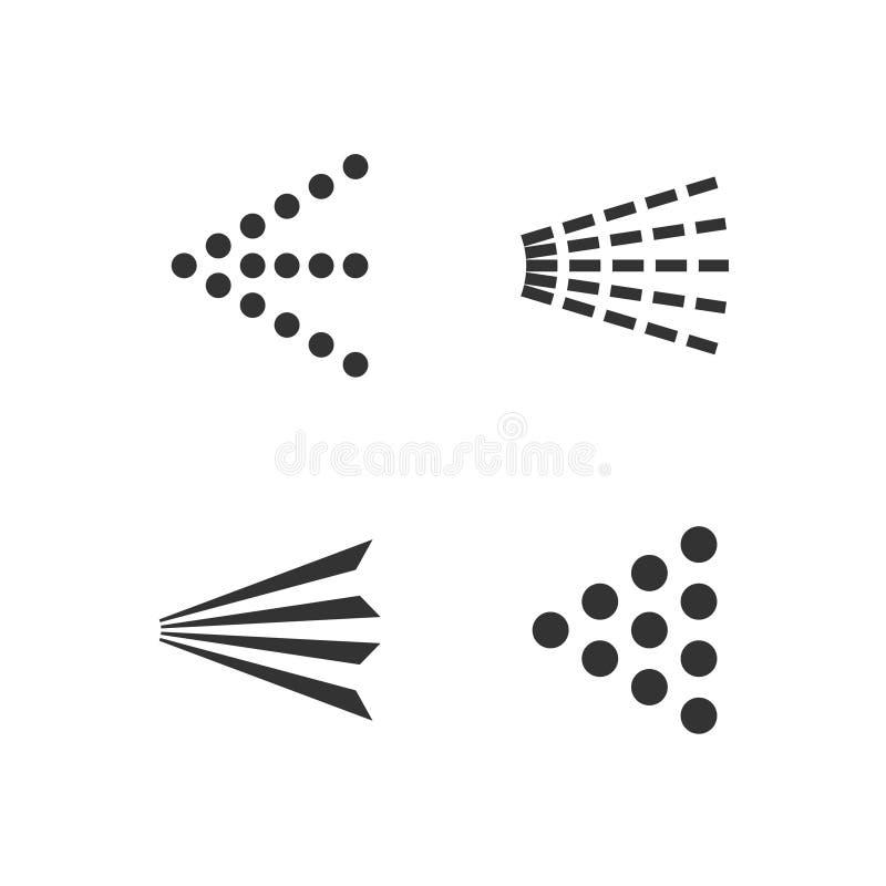 Ícones do pulverizador ajustados ilustração royalty free