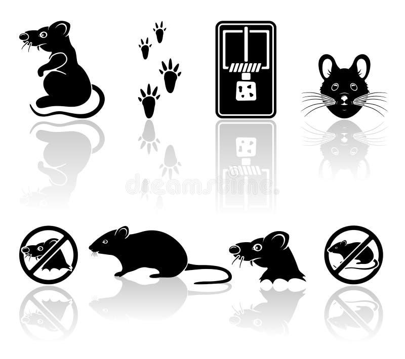 Ícones do rato ilustração royalty free