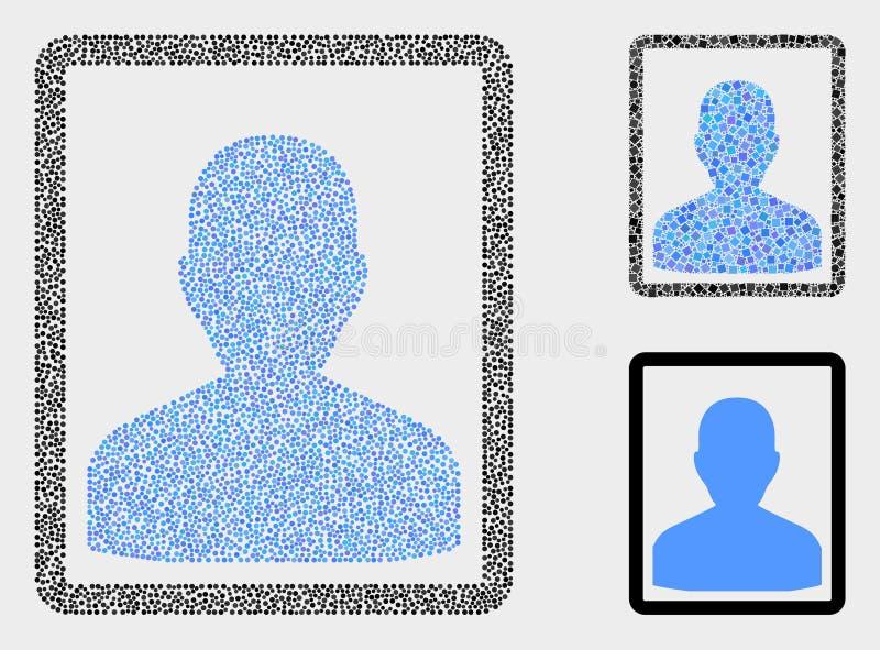 Ícones do retrato da pessoa do vetor de Pixelated ilustração stock