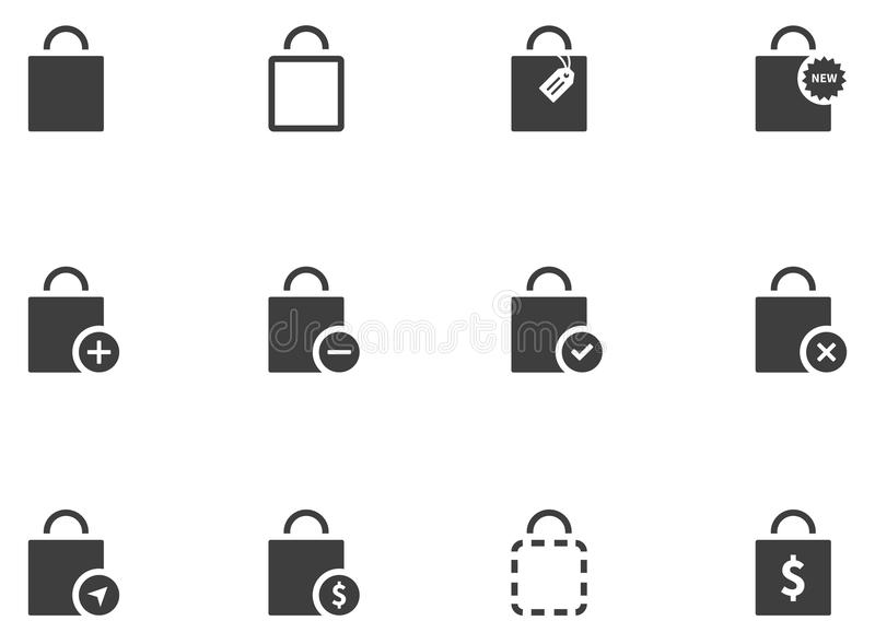 12 ícones do saco ilustração royalty free