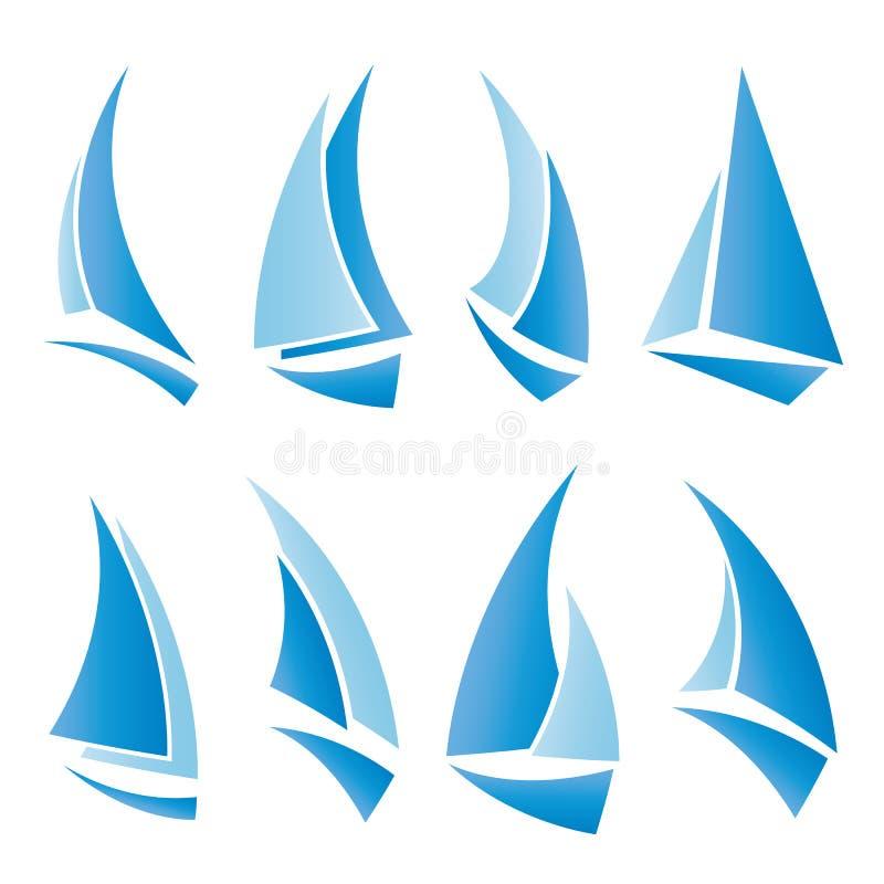 Ícones do Sailboat ilustração stock