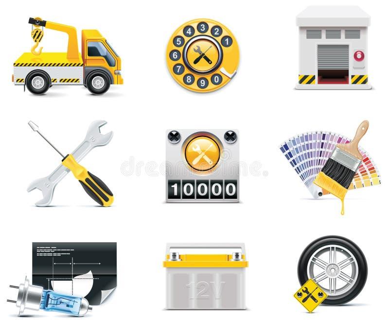 Ícones do serviço do carro. Parte 2 ilustração stock