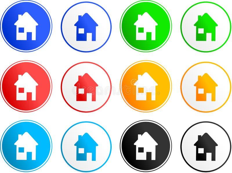 Ícones do sinal da casa ilustração royalty free