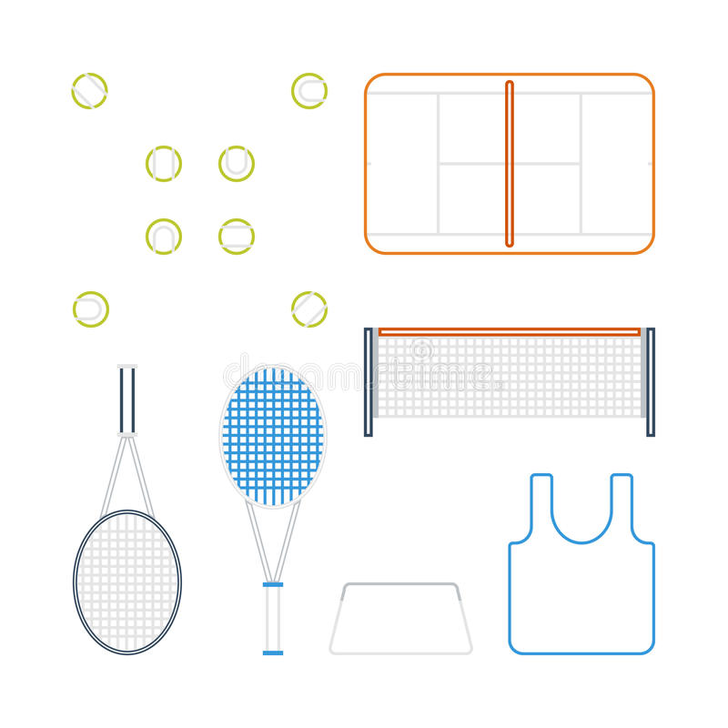 Ícones do tênis imagem de stock royalty free
