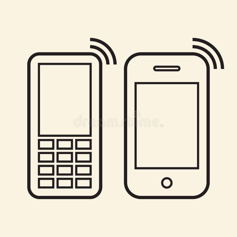 Ícones do telefone celular ilustração royalty free