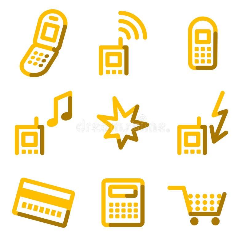 Ícones do telefone móvel 2 ilustração do vetor