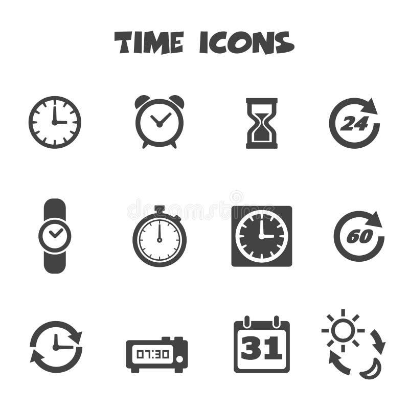 Ícones do tempo ilustração do vetor