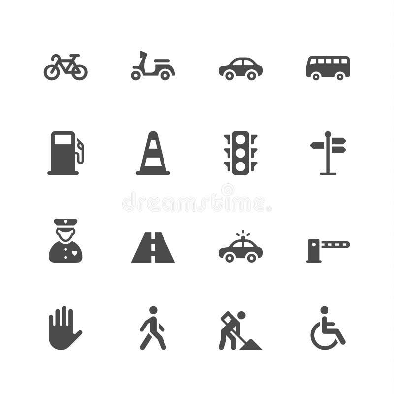 Ícones do tráfego ilustração do vetor