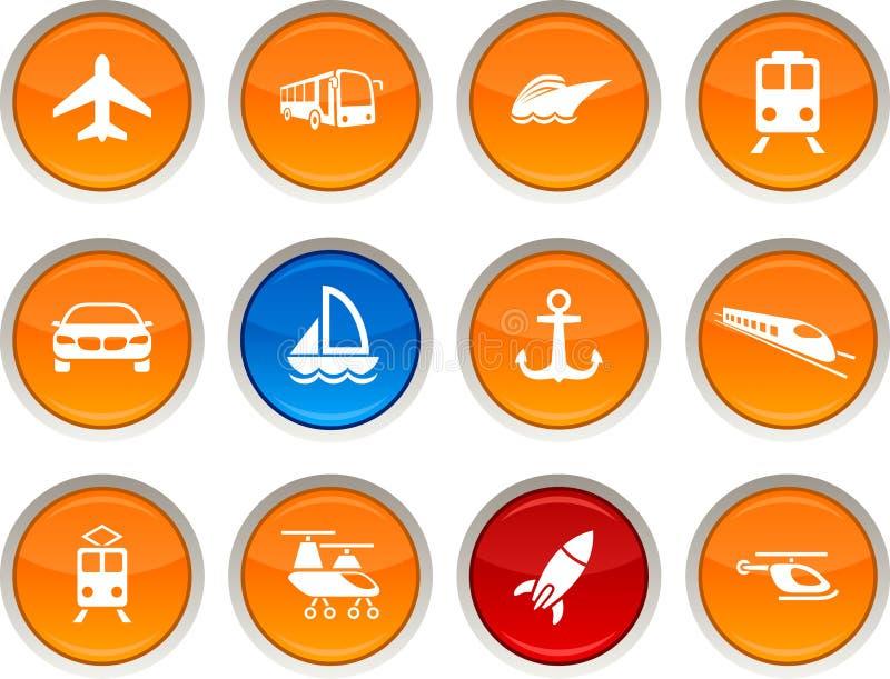 Ícones do transporte. ilustração stock