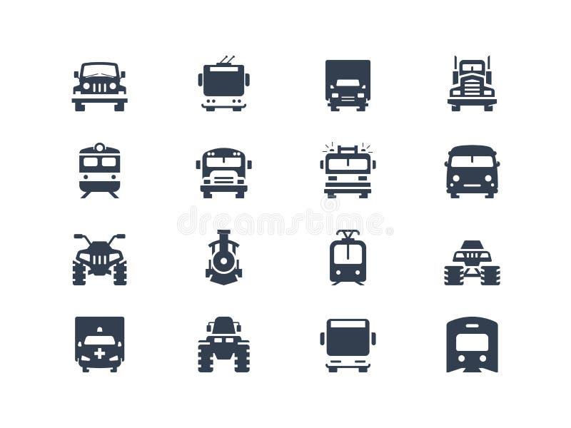 Ícones do transporte ilustração stock