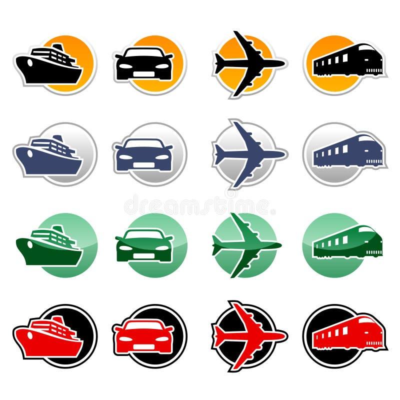 Ícones do transporte ilustração do vetor