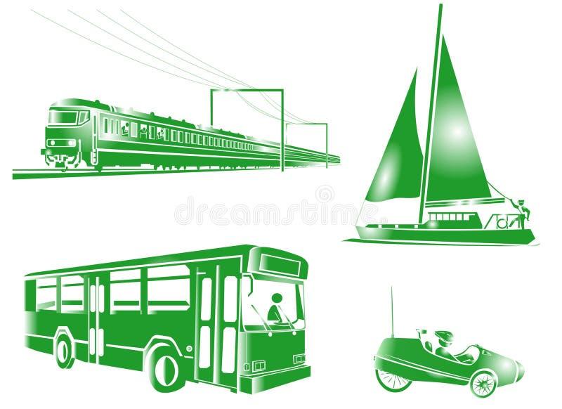 Ícones do transporte do símbolo ilustração do vetor
