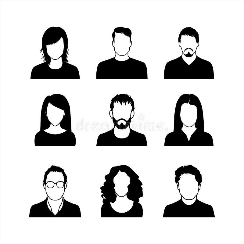 Ícones do usuário ilustração stock