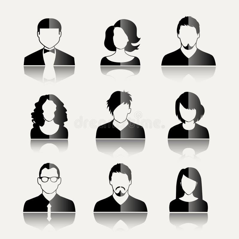 Ícones do usuário ilustração do vetor