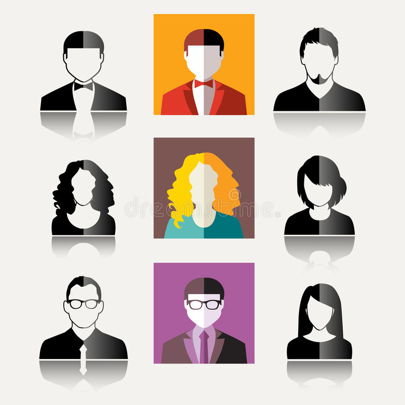 Ícones do usuário ilustração royalty free
