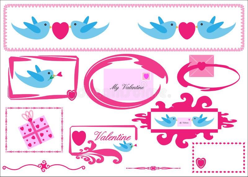 Ícones do Valentim/amor ilustração royalty free