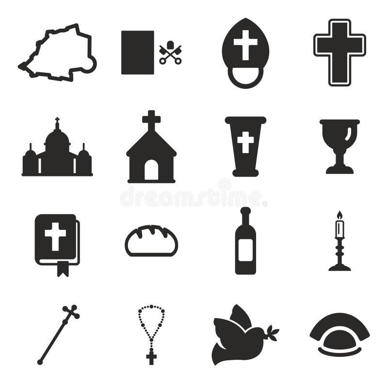 Ícones do Vaticano ilustração stock