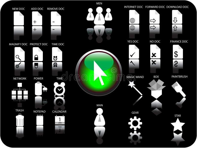 Ícones do vetor 3D ilustração royalty free