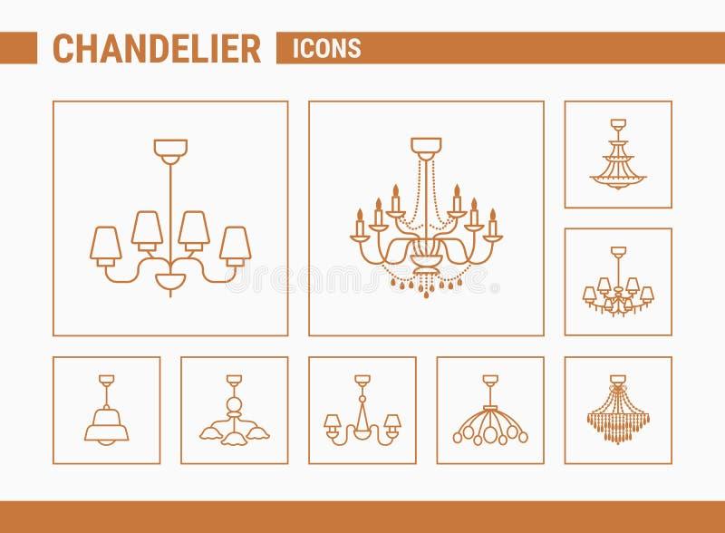 Ícones do vetor do candelabro - ajuste a Web & o móbil 01 ilustração do vetor
