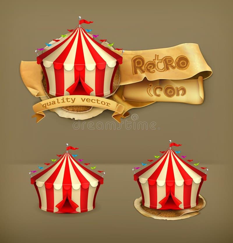 Ícones do vetor do circo ilustração royalty free