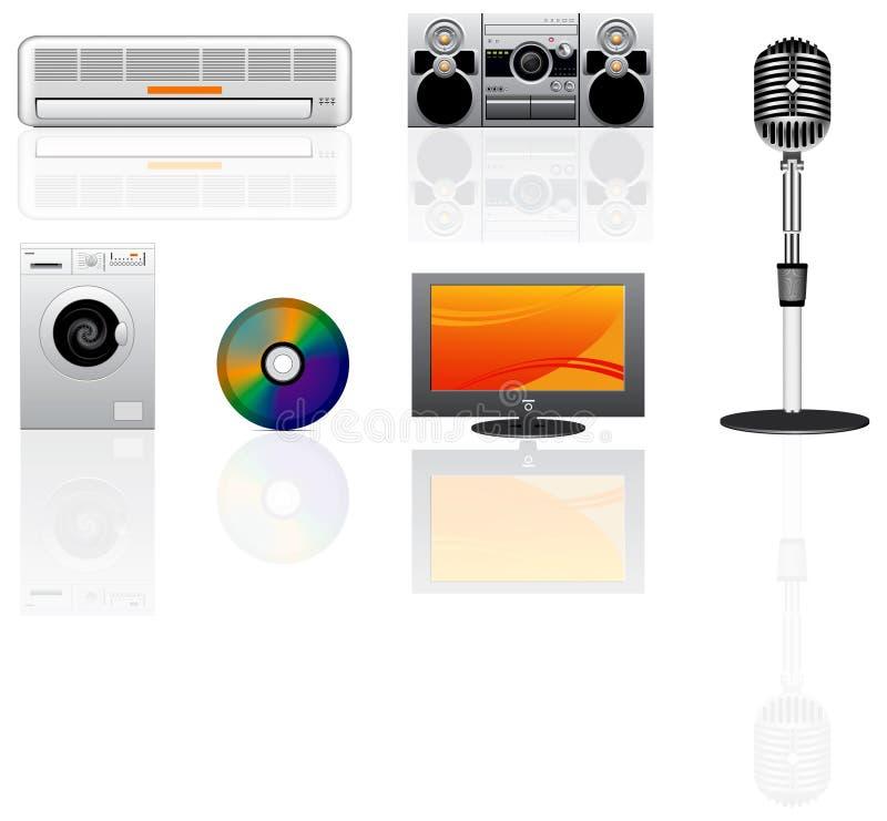 Ícones do vetor do dispositivo ajustados ilustração stock