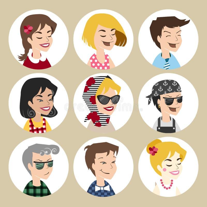 Ícones do vetor do usuário ilustração royalty free