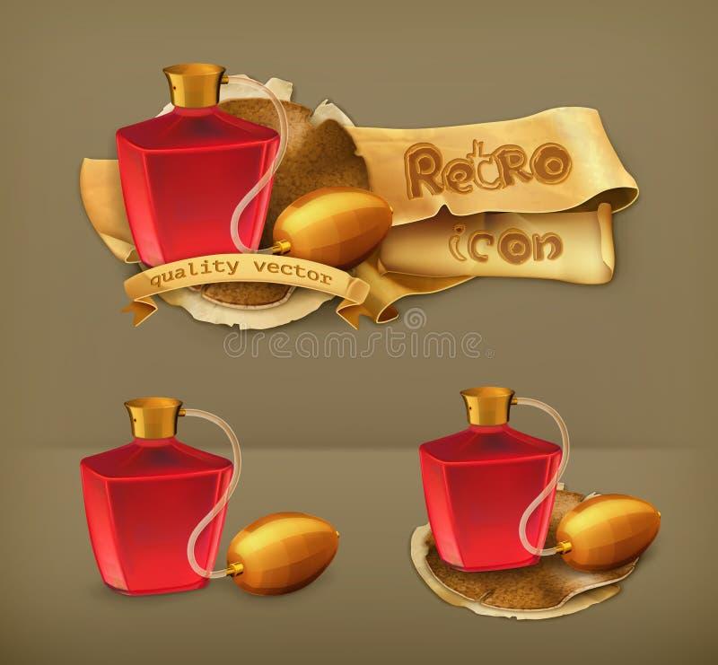 Ícones do vetor dos perfumes ilustração stock