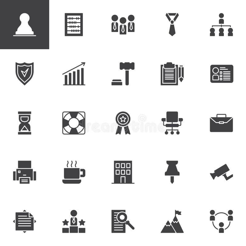 Ícones do vetor do negócio ajustados ilustração stock