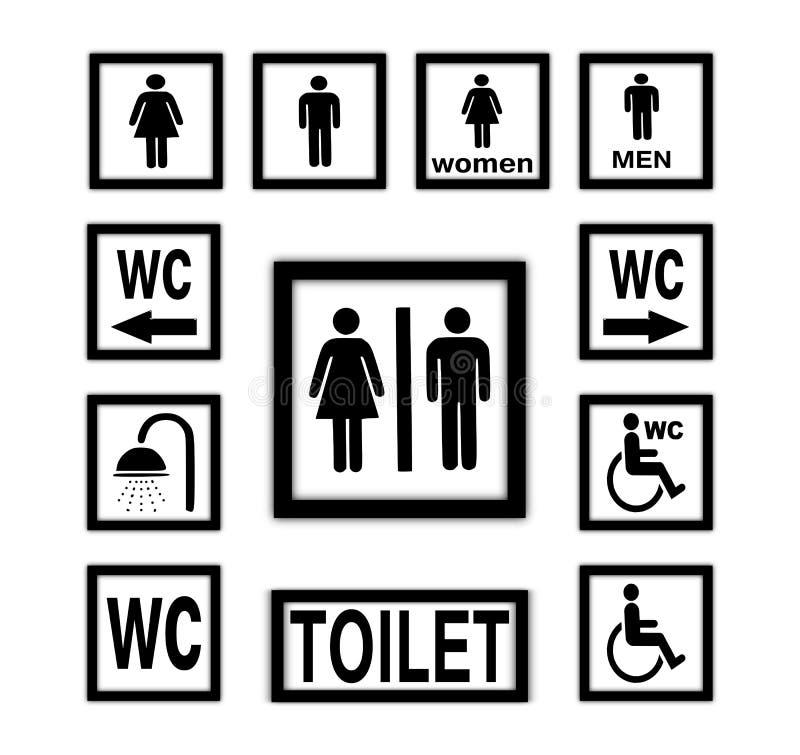 Ícones do WC ilustração stock
