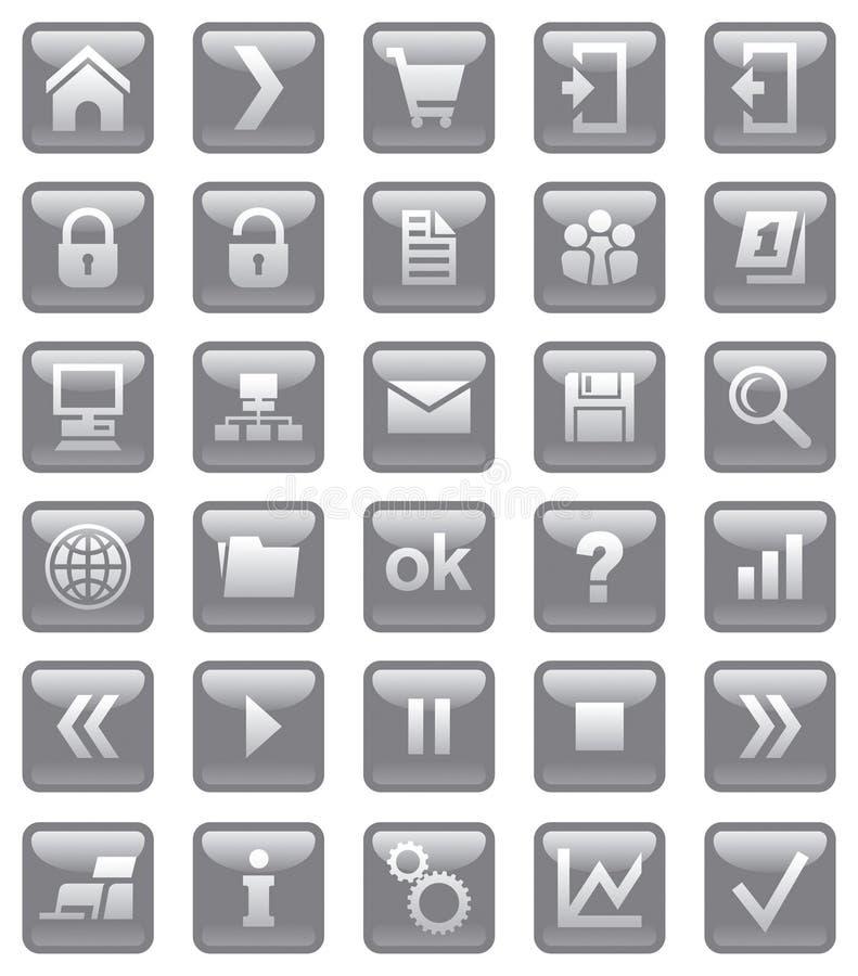 Ícones do Web. ilustração stock