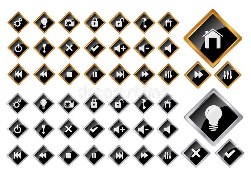 Ícones do Web ilustração do vetor