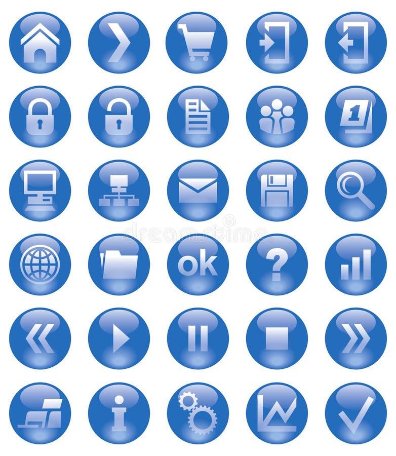 Ícones do Web ilustração royalty free
