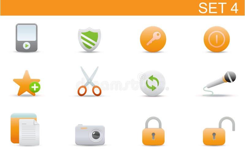 Ícones do Web ilustração stock