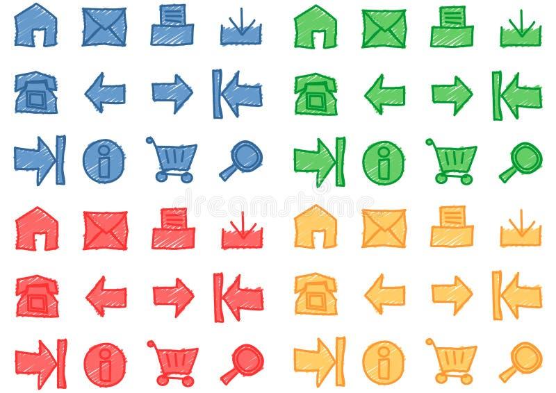 Ícones do Web ajustados - vetor ilustração stock