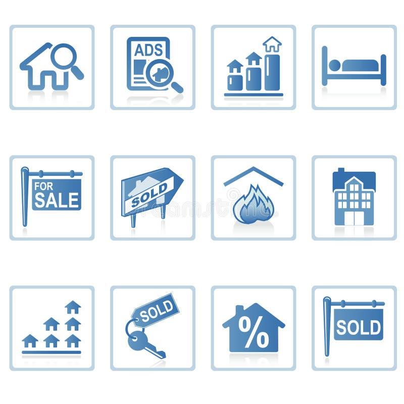 Ícones do Web: Bens imobiliários 2 ilustração do vetor