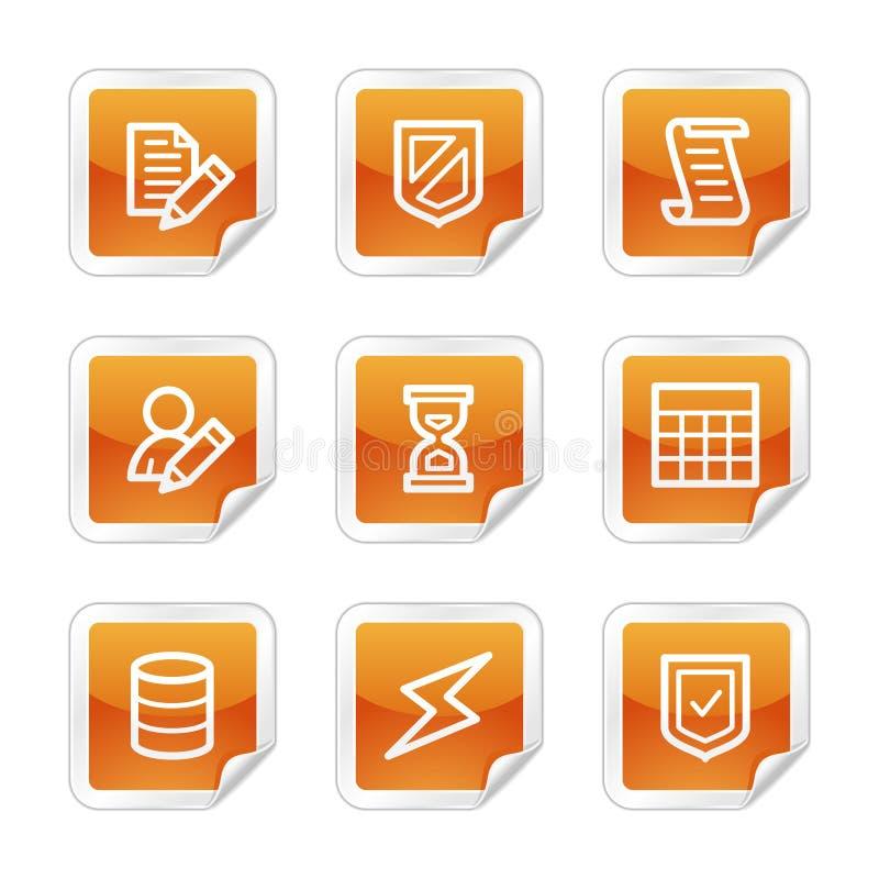Ícones do Web da base de dados ilustração do vetor