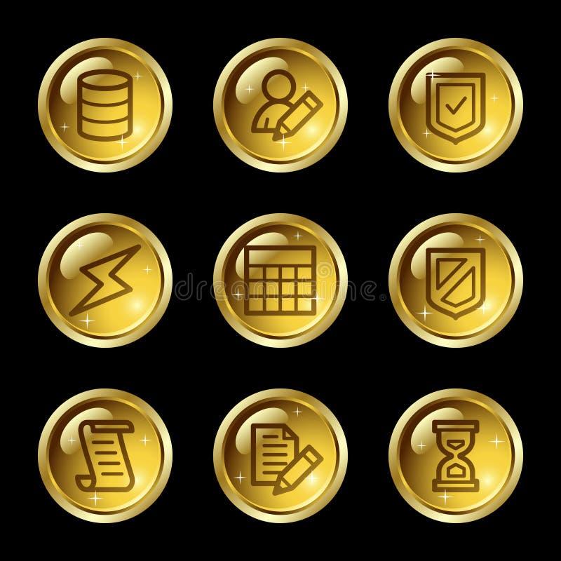 Ícones do Web da base de dados ilustração royalty free